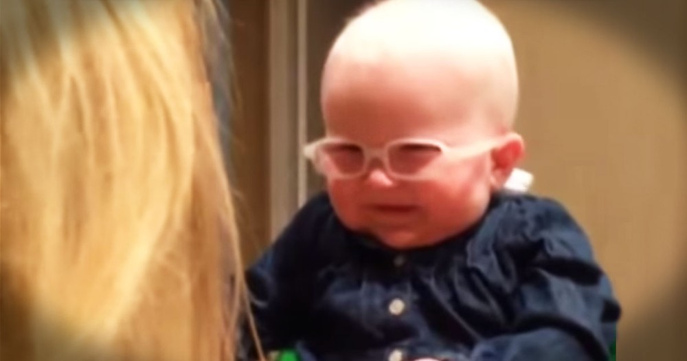 Baby Sees Mom For First Time--TEARS!