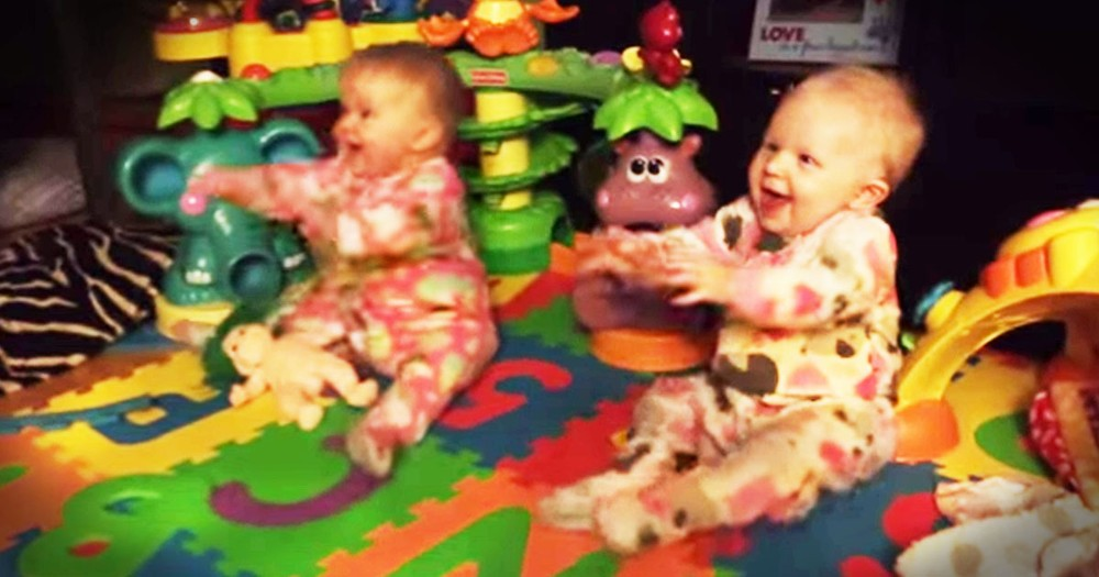 Apparently, These 8-Month-Old Twins Are A Little Excited To See Dad--LOL!