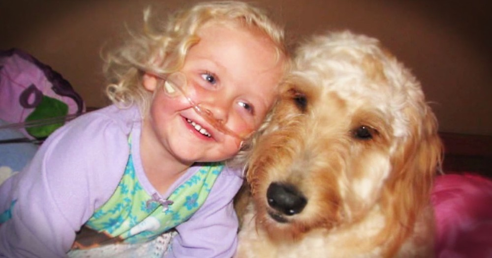 Pup Isn't Just Her Playmate, He's Her Lifeline!