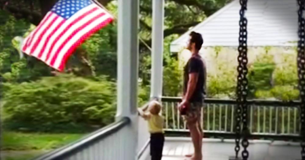 Actor Chris Pratt Teaches His Son Patriotism--AMEN!