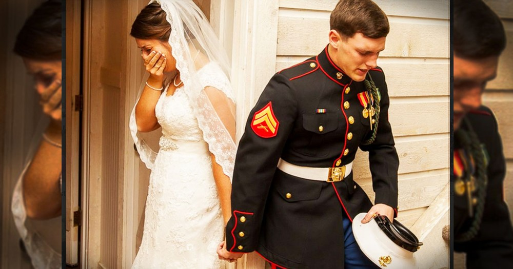 Before He'd Marry Her, This Marine Just Had To Say THIS--Tears!