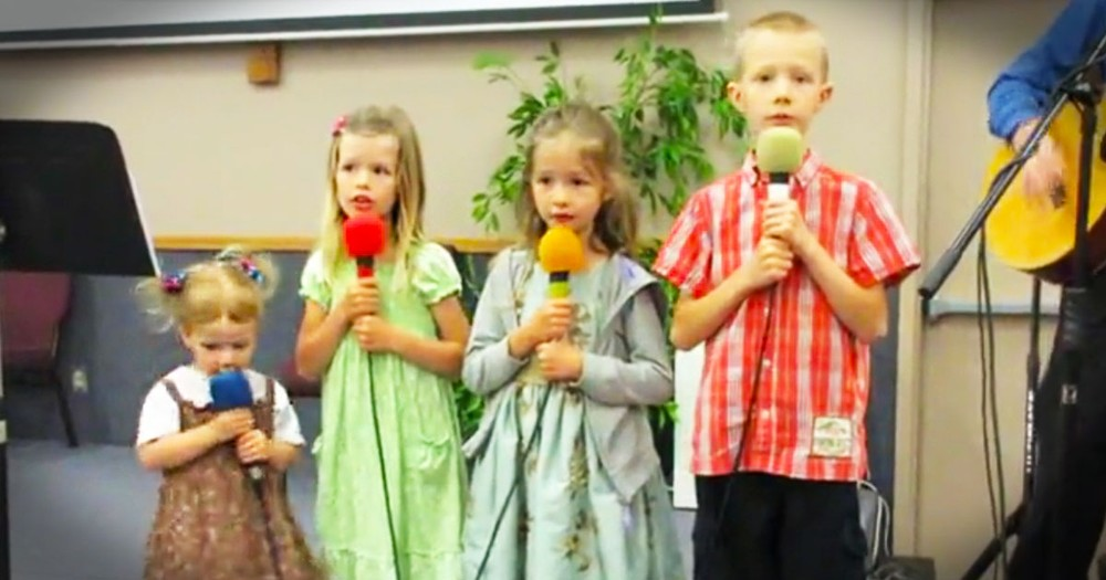 These 4 Cuties Took The Stage To Sing To The Lord, And My Heart Swelled!