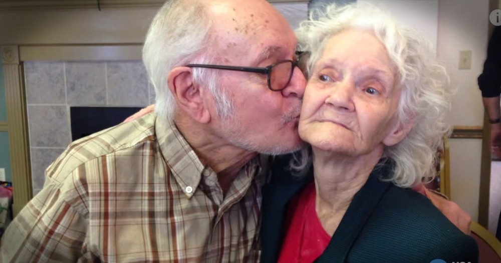 He's Been Waiting For This Kiss For 73 Years!