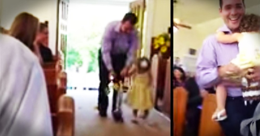 When His Little Cutie Got Cold Feet, This Wedding Got A Flower Girl Like I've Never Seen--LOL!