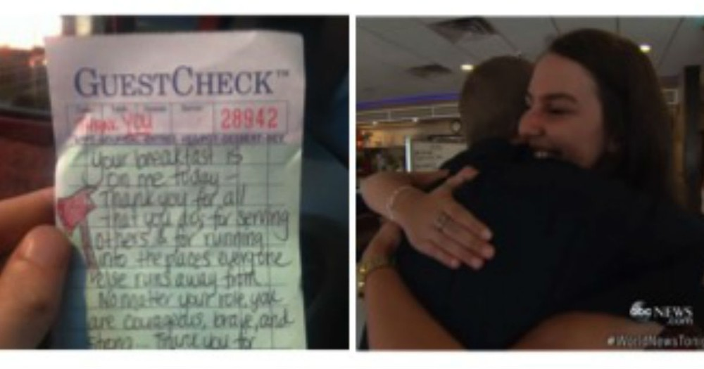 What This Waitress Leaves For These Tired Firefighters Is So Touching I Cried!