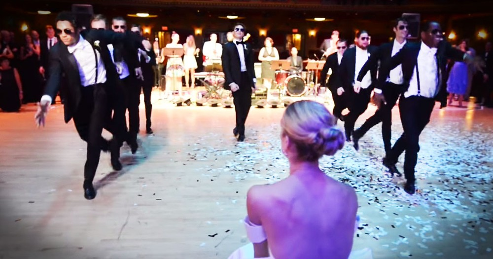 These Groomsmen Take The Cake With This EPIC Dance Surprise