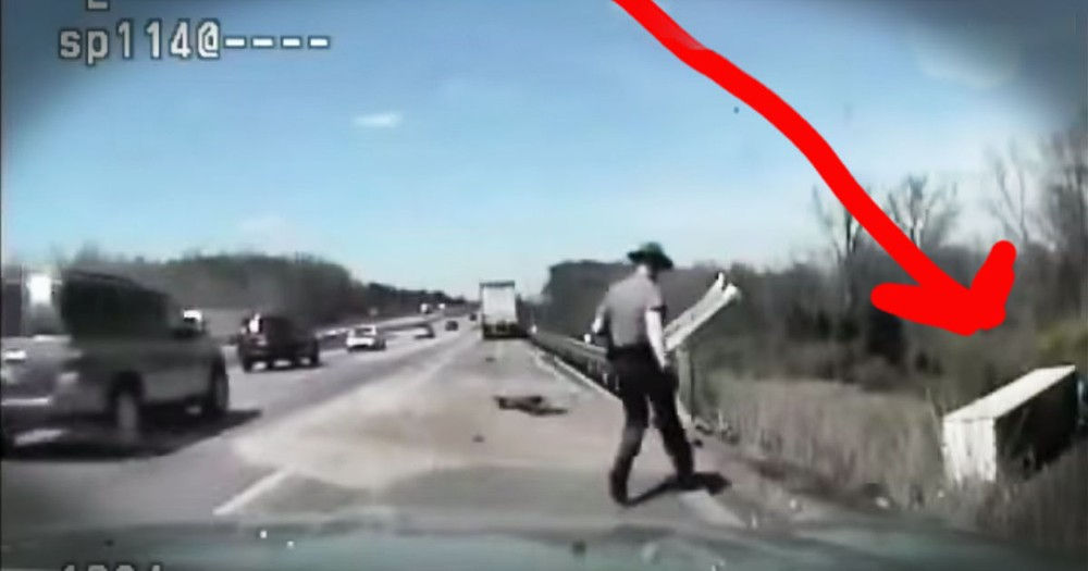 What This Trooper Did To Save A Truck Driver - HEROIC