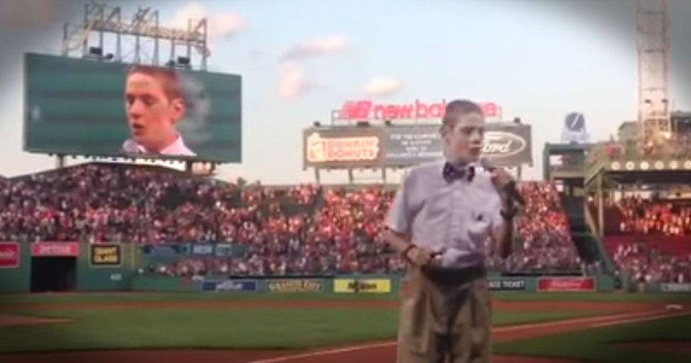 Christopher Duffley's National Anthem Just May Bring A Tear To Your Eye!