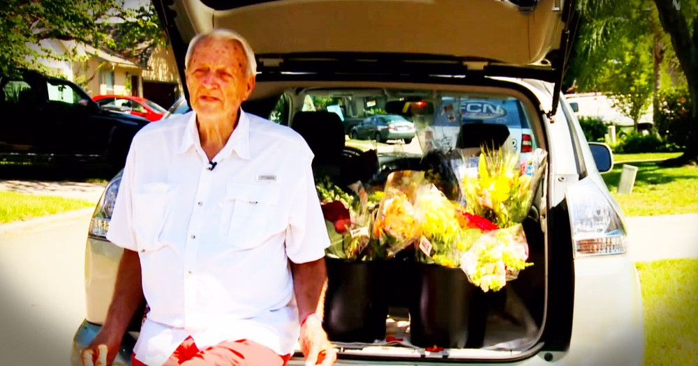 They Drive Around Handing Out Old Flowers And You'll Love WHY