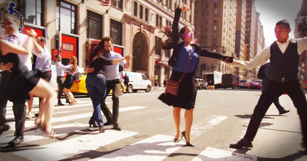 They Started Dancing In The Crosswalk. This Surprise Is AMAZING!