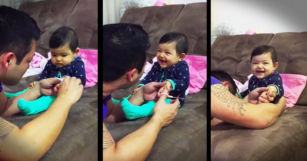 Baby Girl Pranking Her Dad Will Have You Rolling