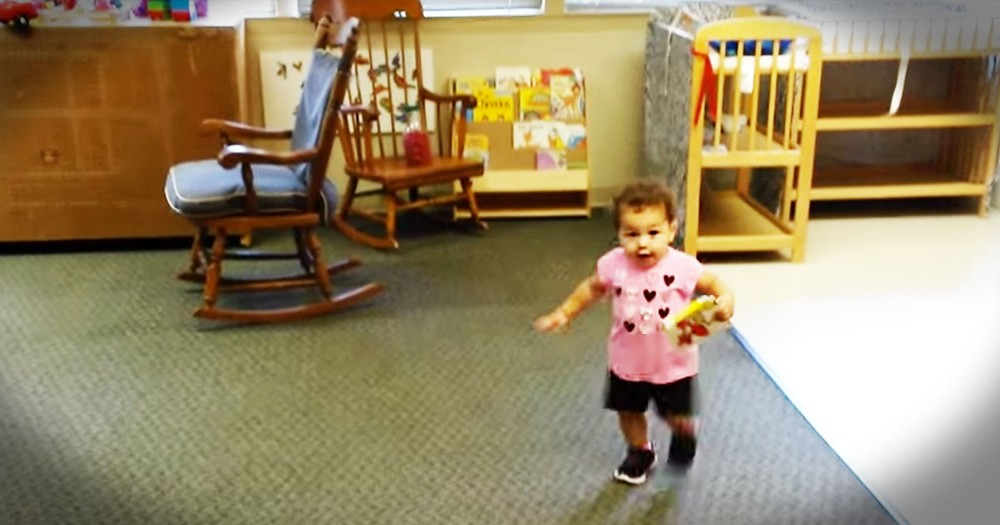 She Just Saw Daddy After Her First Day Of Daycare, And The Reaction...ADORABLE!