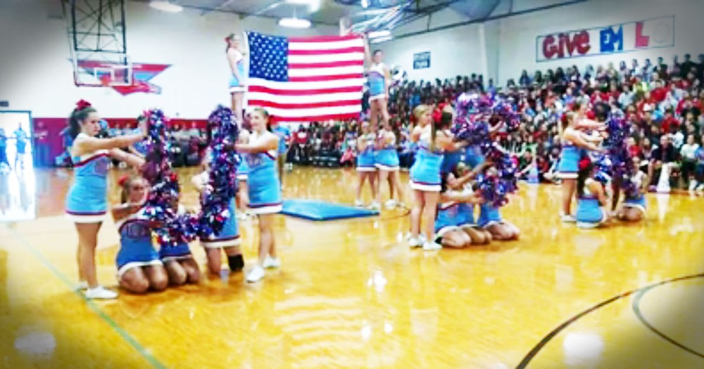 This Patriotic Cheer Routine Had Me In Tears