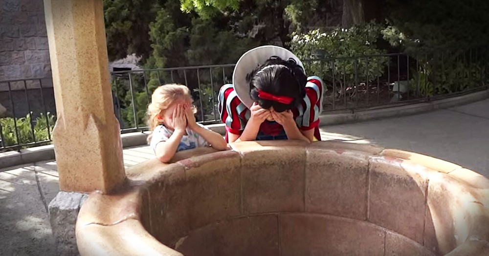 Toddler's Dream Comes True at a Disneyland Park Wishing Well - Her Daddy Came Home