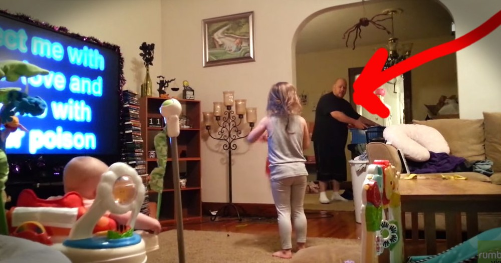 Secret Camera Catches CUTEST Daddy Dance Party