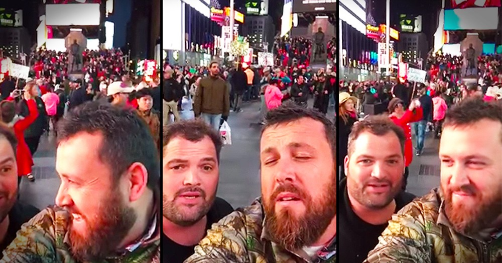These Contractors Are Singing To Jesus In Times Square!