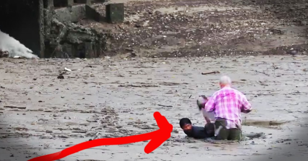Hero Fisherman Rescues Strangers Trapped In Mud