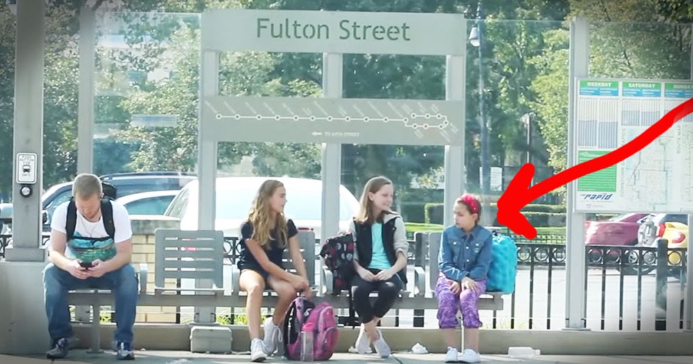 Total Strangers Step In To Stop Bullying At The Bus Stop!