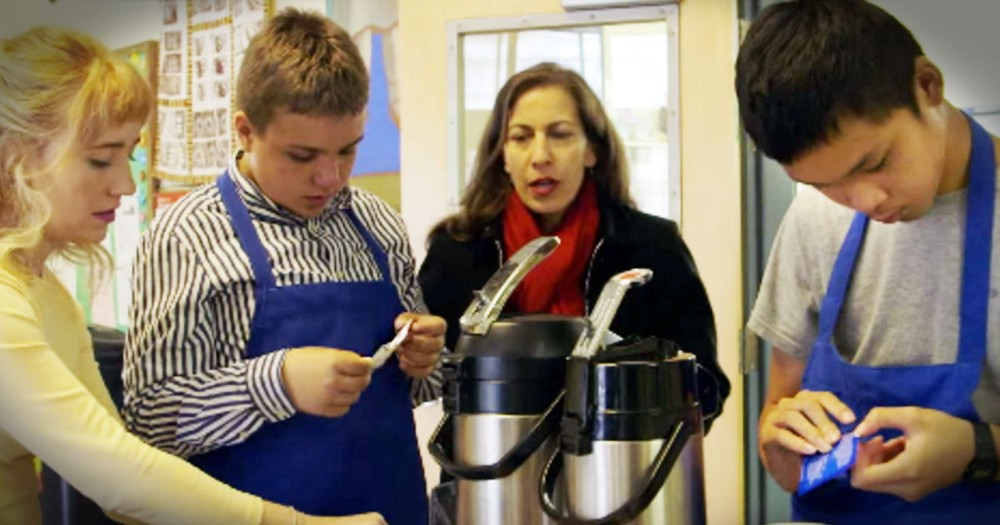 Special education Class Runs A Coffee Cart For Teachers That'll Warm Your Heart