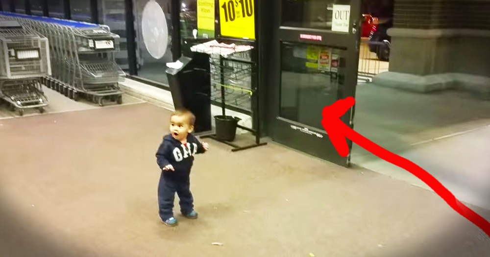 Toddler's Reaction To Automatic Doors Is Too Cute