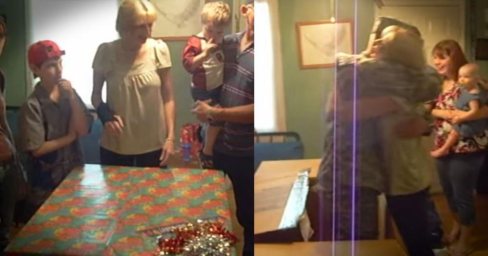 Mom Gets Best Birthday Surprise...Her Soldier Son!