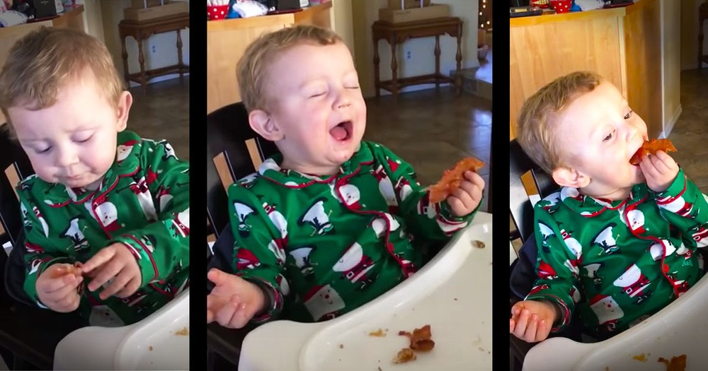 Baby's First Bacon Is The Cute You Need This Morning