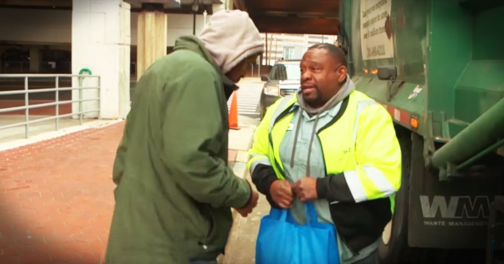 Garbage Man Is Helping The Homeless In The Name Of Jesus!