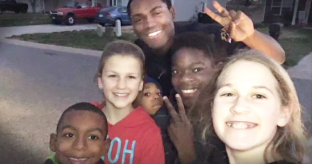 Police Officer Sees Kids Playing With The Wrong Ball, Does Something Awesome