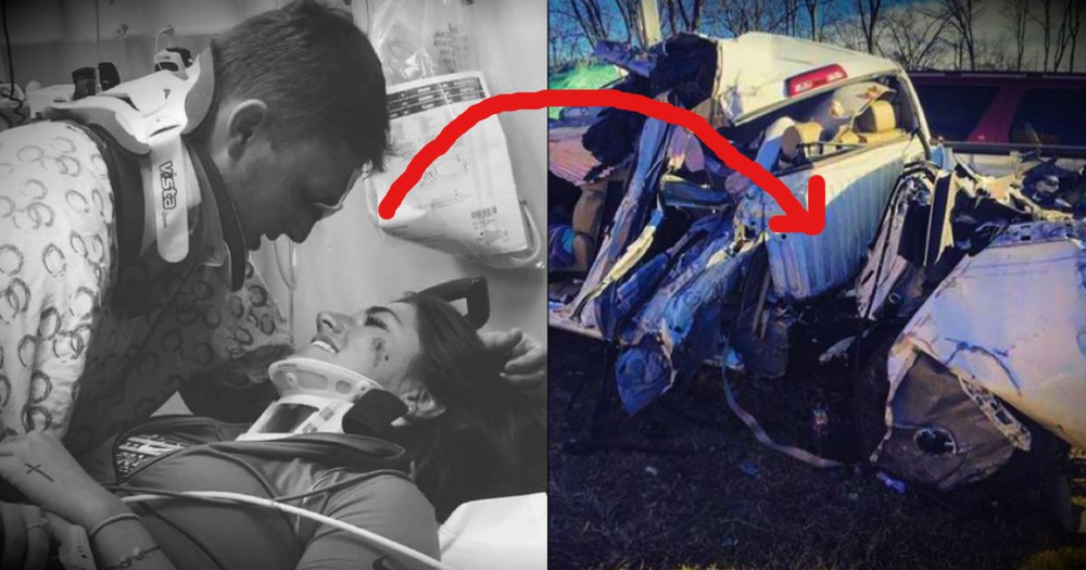 A Young Couple Was Spared From A Horrible Crash And It Was All GOD!