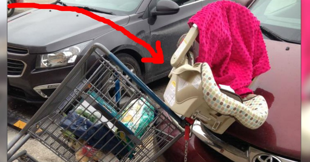 Mom's Warning Of A Dangerously Common Shopping Cart Mistake!