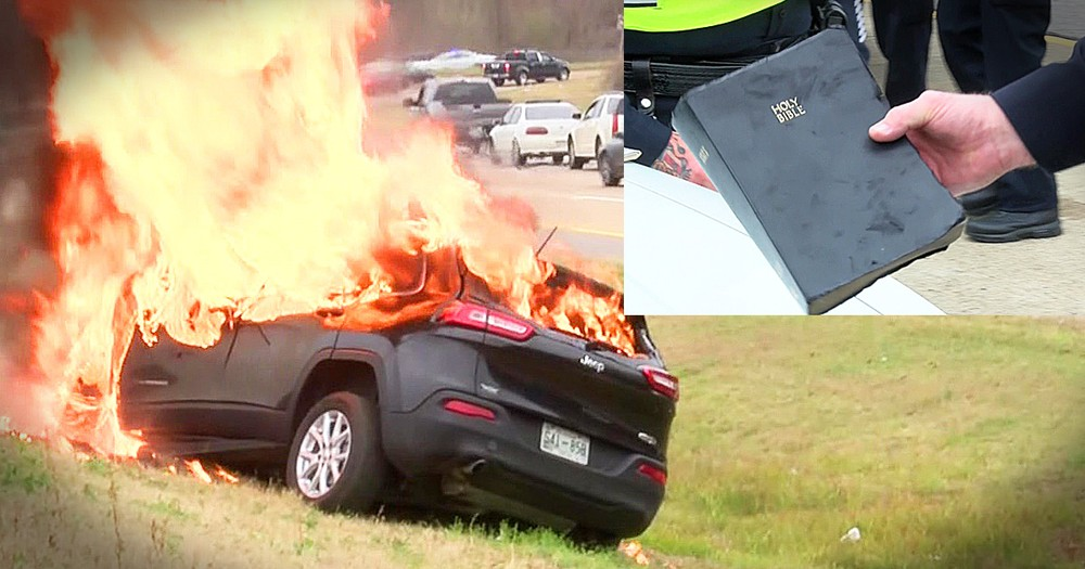 Bible Incredibly Survives Fiery Car Crash