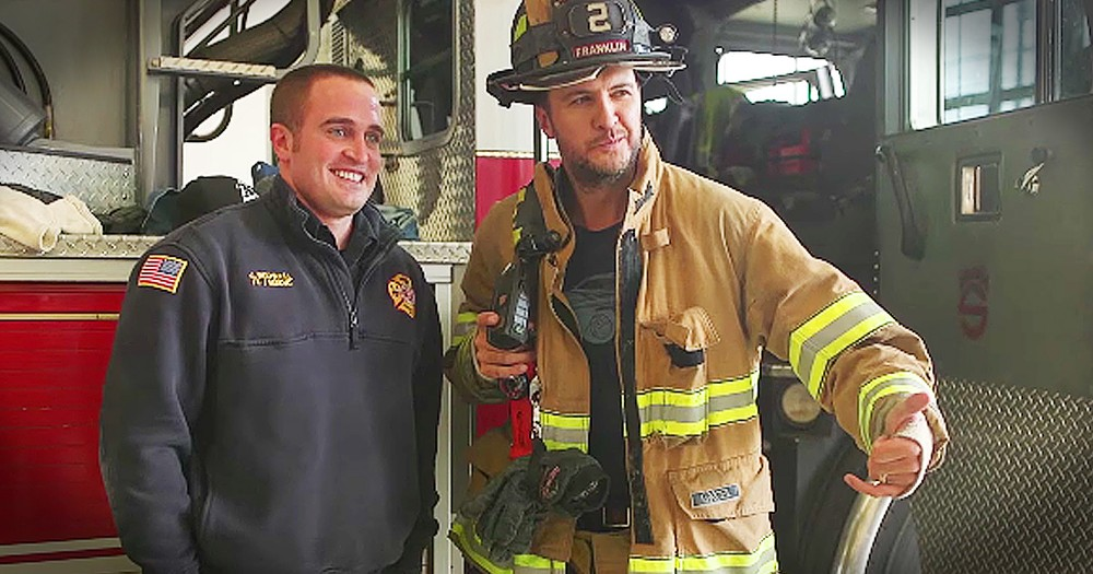 Luke Bryan Thanks Local Firefighters In Sweetest Way