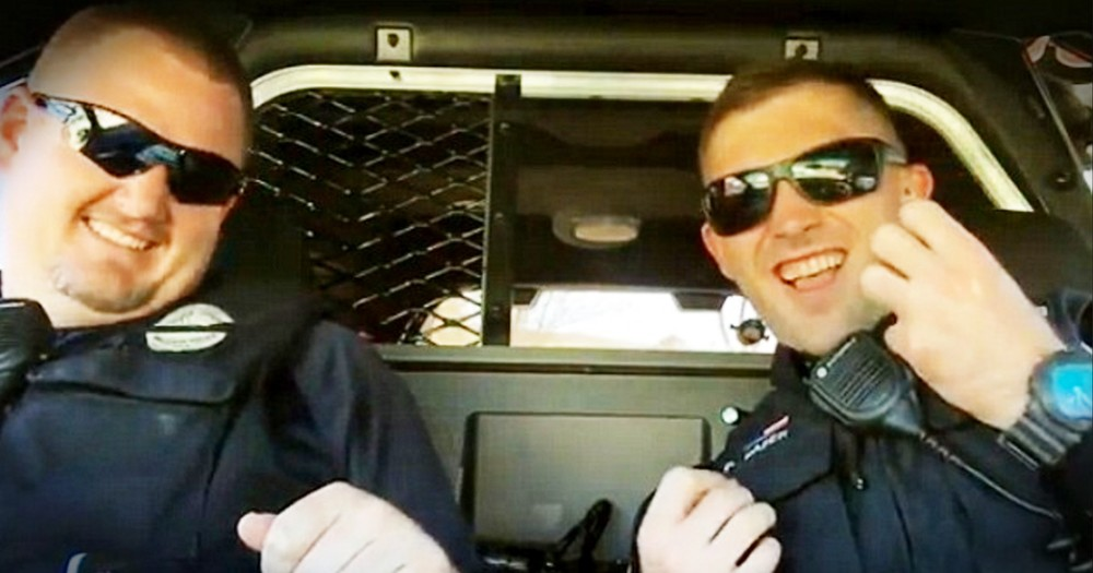 Police Officer's Squad Car Sing Along Goes Viral