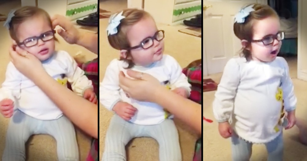 Little Girl Says 'Wow, Thank You' After Glasses Let Her See Clearly For The First Time