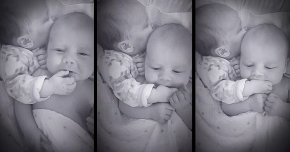 Twin Brother Helps Soothe Baby Sister In The Sweetest Way
