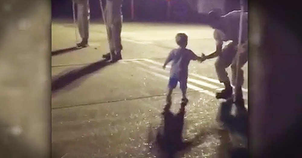 2-Year-Old Honors Heroes In The Cutest Way