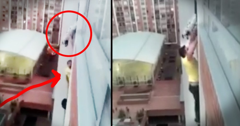 Man Rescued Dog By Climbing Up A 13 Story Building
