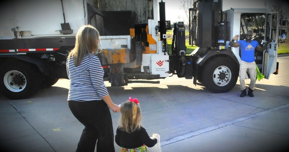 'Smiley Garbage Man' Gets A Special Surprise From His Unlikely BFF!