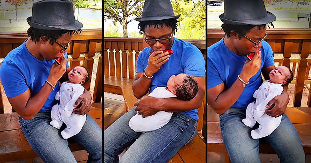 Dad's Harmonica Hymn For His Baby Boy Is Beautiful