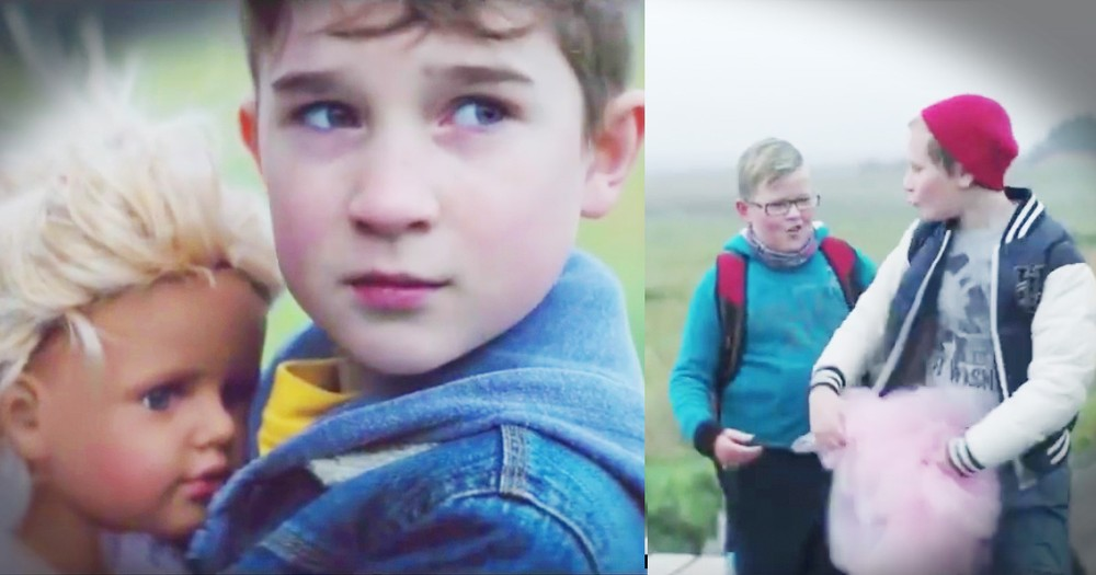 Little Boy Faces Bullies At The Bus For His Little Sister