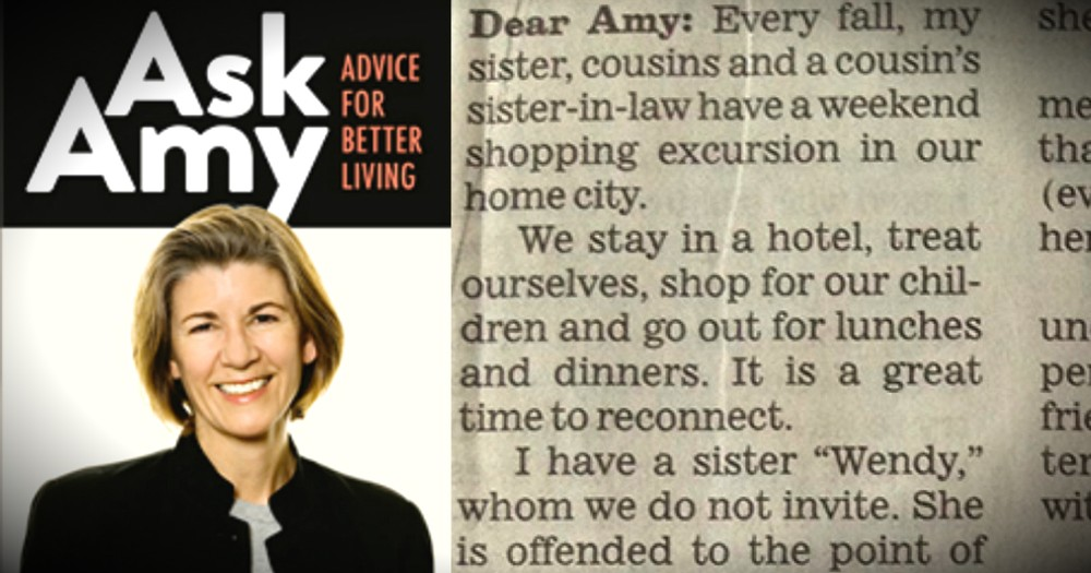 A Sister's Letter To 'Ask Amy' Prompts This EPIC Response!