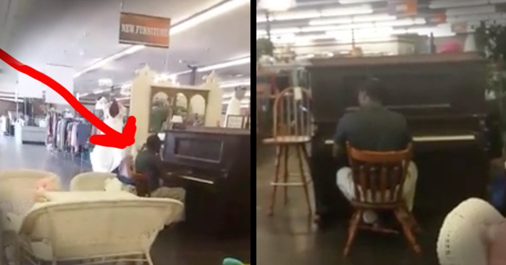 Man Playing Hymn In A Store Will Move You