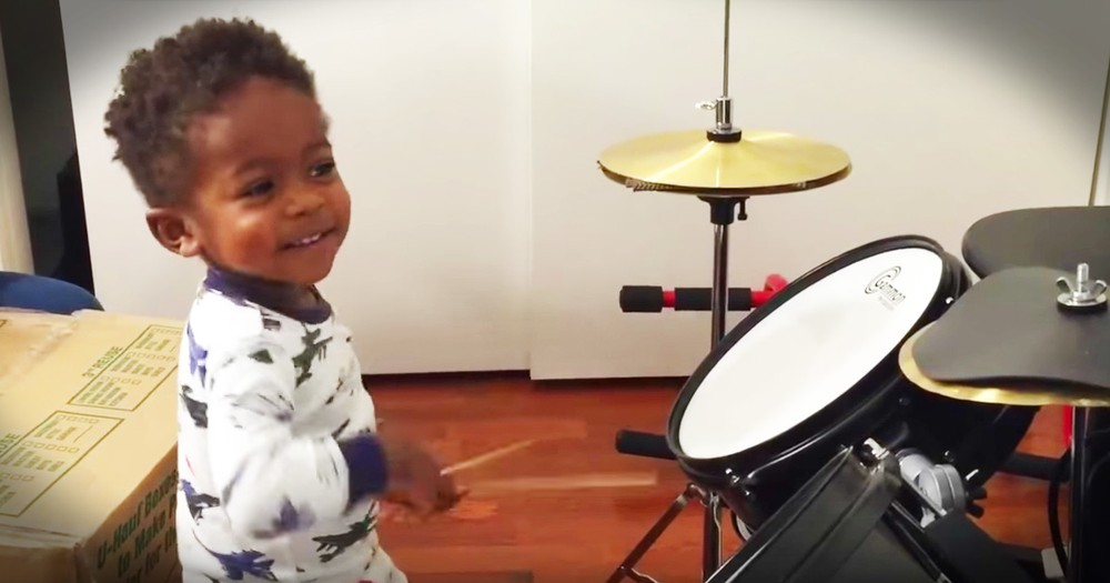 Adorable Toddler Is A Talented Drummer
