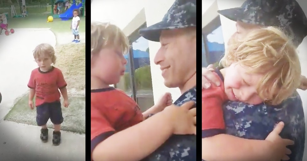 Precious Toddler Surprised By His Sailor Daddy Stole Our Hearts