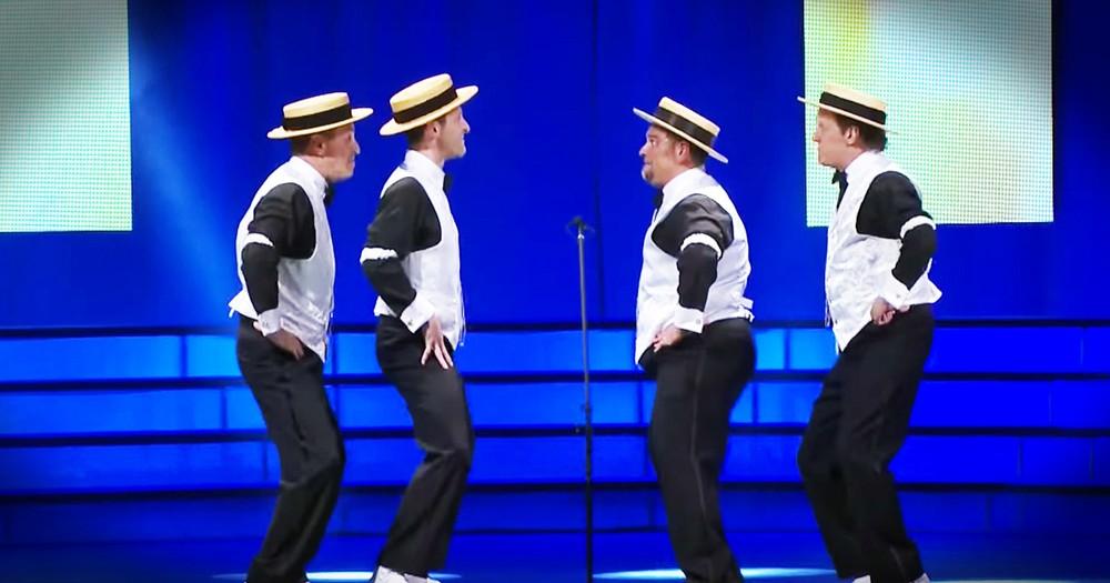 Barbershop Quartet Sings Us Through The Hilarious Evolution Of Dance
