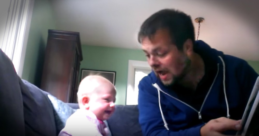 This Dad's Enthusiastic Story Time Has His Baby Girl Cracking Up
