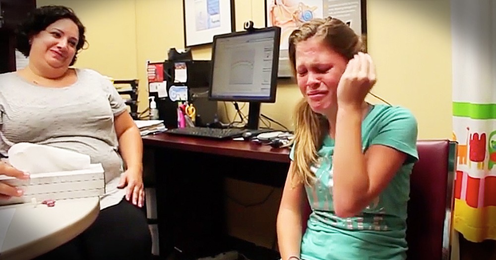 Teen Girl Cries When She Hears Her Mother's Voice For The First Time