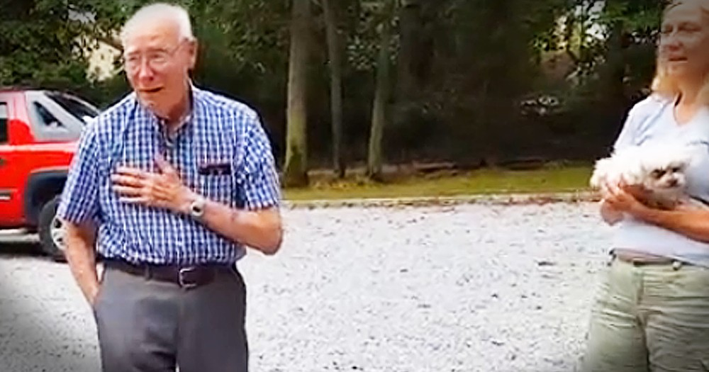 Family Surprises Grandpa With Car Of His Dreams