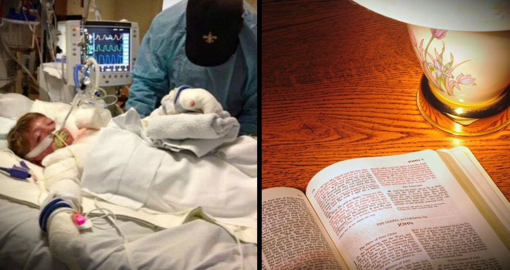 Mother Of A Dying Boy Finds Peace In An Open Bible Left In Her Hotel Room