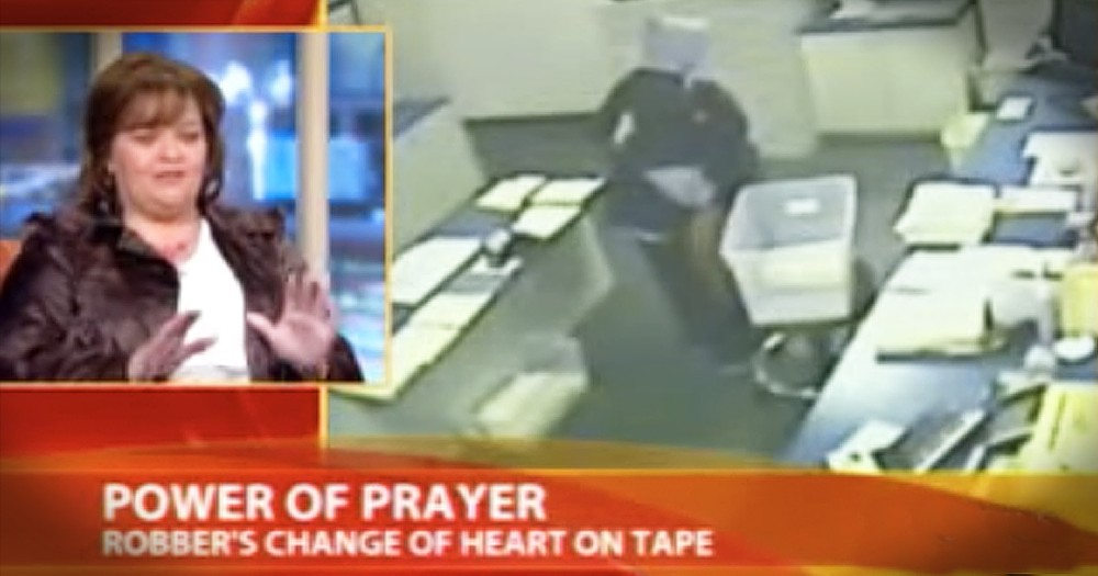 Woman Prays With Robber Who Points Gun At Her Face